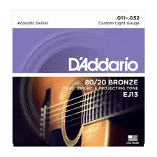d addario strings 80 20 bronze wound ej13 80 20 bronze
