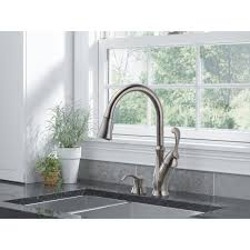 delta kate kitchen faucet delta arabella pull down kitchen faucet with soap dispenser