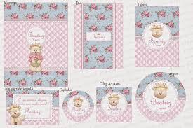 Basta Charme papeteria: As Ursinhas Princesas da Beatriz #WX28