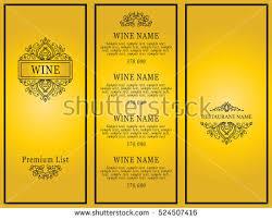 Designs Of Menu Card Restaurant Menu Design Stock Vector 151243628 Shutterstock