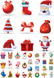 cartoon christmas icons vector free vector graphic resources