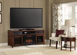 gramercy infrared electric fireplace media console in cocoa
