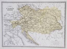 Austria World Map by Map Of Austria Hungary 1867