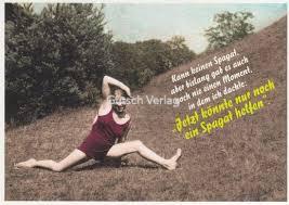 lustige postkarten spr che lustige sprüche postkarte spagat grusskartenshop de