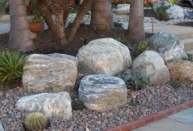 large landscaping rocks addition on your exterior home decor and