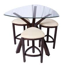 square glass pub table glass pub tables bistro sets youll love wayfair with regard to bar