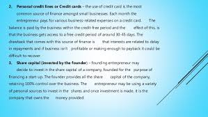 Personal Credit Card For Business Expenses Sources And Types Of Finance In Business Formation In Zimbabwe