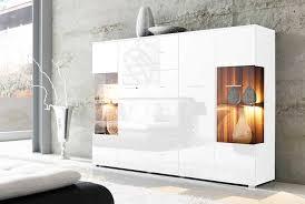 wohnzimmer sideboard sideboard weiß hochglanz mit led beleuchtung dekoration komplett