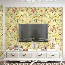 beibehang birds trees branch embossed textured non woven wallpaper