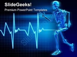skeleton running science powerpoint templates and powerpoint