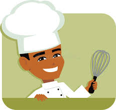 instrument de cuisine chef masculin icon illustration tenant un instrument de