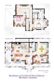 Interior House Drawing Floor Plans Of Homes From Famous Tv Shows