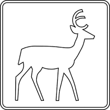 deer viewing area outline clipart