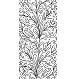 seamless borders vector set in doodle style floral ornate
