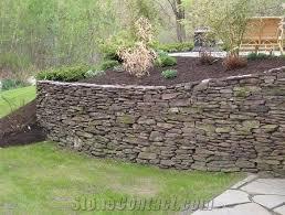 stacked fieldstone garden retaining wall pennsylvania beige