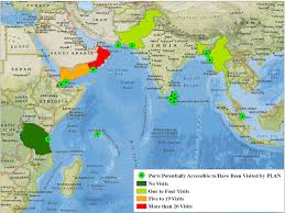Indian Ocean Map Dragon Tracks Emerging Chinese Access Points In The Indian Ocean