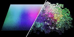Cmyk Color Spectrum Puzzle 1000 Pieces Color Gamut Puzzle Clemens Habicht Feel Desain