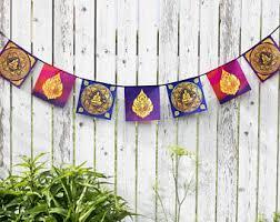 Tibetan Home Decor Om Mani Padme Hum Prayer Flag Buddhism Buddhist Decor Tibetan