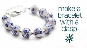 make beaded bracelet images Make a beaded bracelet with a clasp jewelry making tutorial jpg