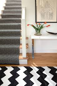 Chevron Runner Rug Black And White Chevron Runner Rug Surripui Net