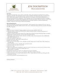 Customer Service Job Duties Resume by Housekeeping Duties And Responsibilities Resume Free Resume