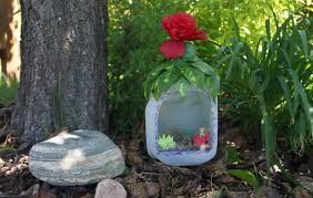 home confetti milk jug fairy house
