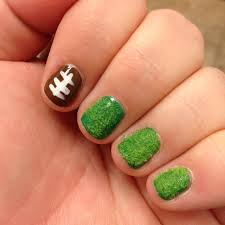 how to paint super easy football nail art totally the bomb com