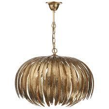 five light pendant dar lighting atticus five light pendant in gold leaf fitting