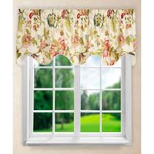 Red Scarf Valance Contemporary Valances Window Scarves Window Treatments Bellacor