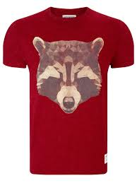 supremebeing raccoon print t shirt in purple for men lyst