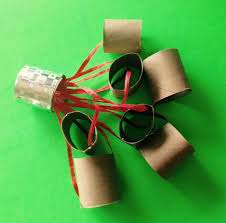 christmas gift wrapping supplies recycled new year s rattle made from left gift