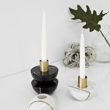 white marble candle holders for the modern home u2013 the citizenry
