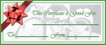 waste free gift certificates