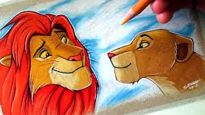 drawing simba nala lion king fan art friday