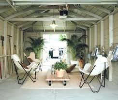 Outdoor Living Space Plans by Converting A Garage Into Living Space Brick Wall White Glass Door