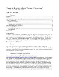 Prep Cook Resume Sample by Security Event Analysis Through Correlation