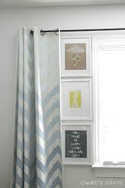 chevron bedroom curtains ombre chevron curtains in boys nursery