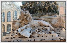 lions statues roaring lions milan italy lion statues on waymarking
