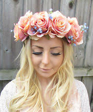 flower hairband floral festival headband women s accessories ebay