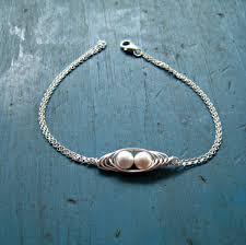Two Peas In A Pod Jewelry Two Peas In A Pod Bracelet 2 Pearl Mothers By Vintagestampjewels