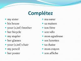 Chaise Masculine Or Feminine Français B My Singular Mon For Masculine Words Ma For Feminine