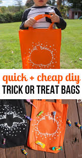 diy halloween trick or treat bags for kids so festive