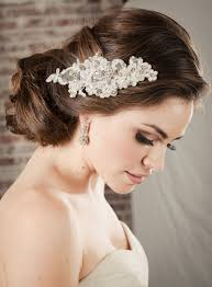 bridal hair clip hair accessories bridal lace comb pearl rhinestone