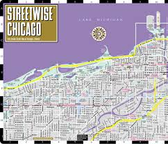 Map Of Chicago Suburbs Streetwise Chicago Map Laminated City Center Street Map Of