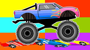 monster trucks car racing kids big wheels crush