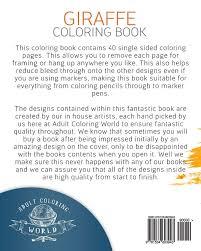 amazon giraffe coloring book coloring book 40