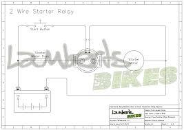 motorcycle starter relay wiring diagrams lamberts bikes