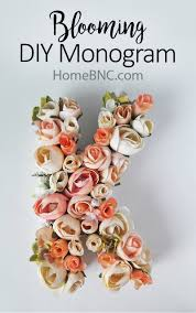 Monogram Planter Blooming Diy Monogram U2014 Homebnc
