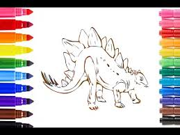 draw color dinosaur dinosaurs coloring pages kids