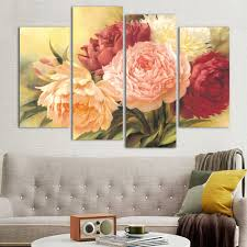 compare prices on wall mural paintings online shopping buy low home decorations colorful flowers hd print canvas background wall mural painting china mainland